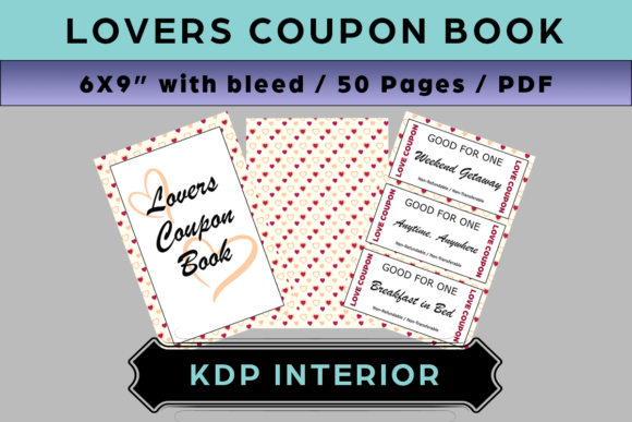 Lovers Coupon Book Graphic KDP Interiors By Kreative Kontrast Designs