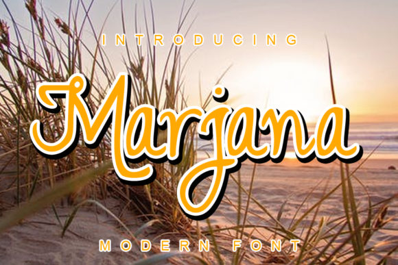 Print on Demand: Marjana Script & Handwritten Font By ABBAsalam