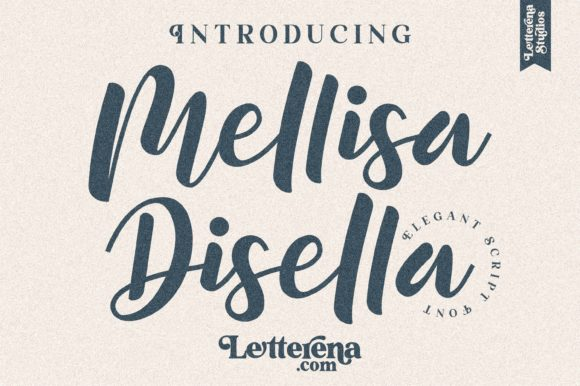 Print on Demand: Mellisa Disella Script & Handwritten Font By letterenastudios