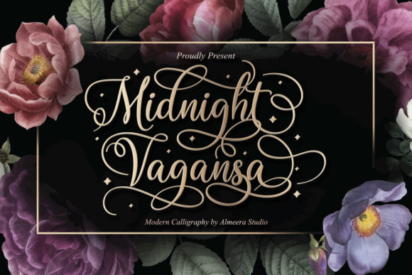 Print on Demand: Midnight Vagansa Script & Handwritten Font By Almeera Studio