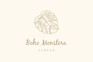 Print on Demand: Monstera Logo Template Graphic Logos By Pretty Decadent