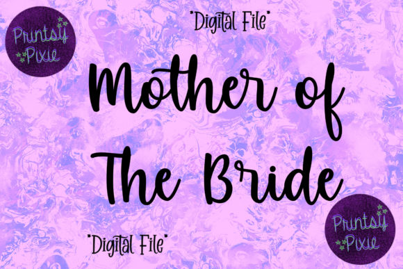 Mother of the Bride Wedding Ceremony Graphic Objects By Printsy Pixie