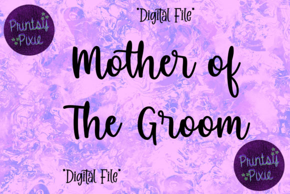 Mother of the Groom Wedding Ceremony Graphic Objects By Printsy Pixie
