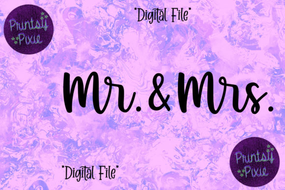Mr & Mrs Couple Graphic Objects By Printsy Pixie