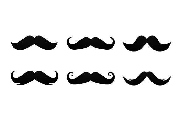Print on Demand: Mustache Collection Design Vector Graphic Illustrations By Muhammad Rizky Klinsman