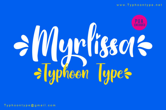 Print on Demand: Myrlissa Script & Handwritten Font By Typhoon Type - Suthi Srisopha