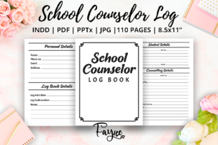 Print on Demand: School Counselor Log Book | KDP Template Graphic KDP Interiors By Fayne