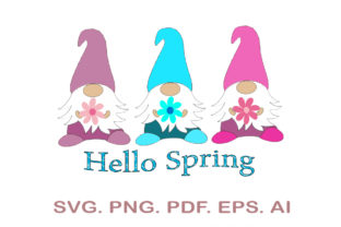 Spring Gnomes SVG Graphic Crafts By NarCreativeDesign
