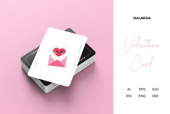 Print on Demand: Valentine Love Game Card Design Vector Graphic Print Templates By isalnesia