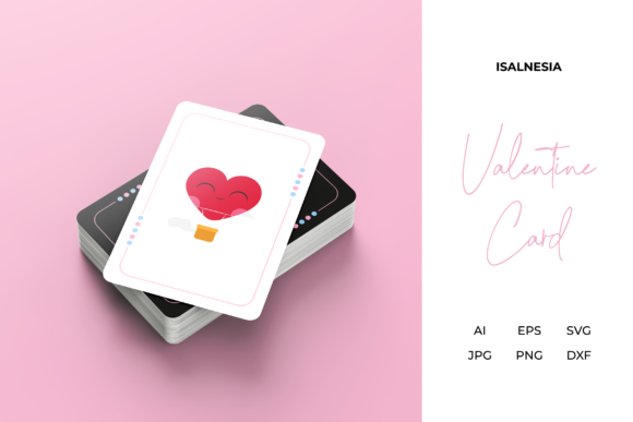 Print on Demand: Valentine Love Game Card Vector Design Graphic Print Templates By isalnesia