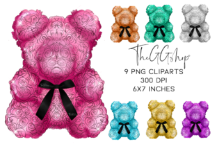 Print on Demand: Valentine's Day Floral Clipart Graphic Illustrations By TheGGShop