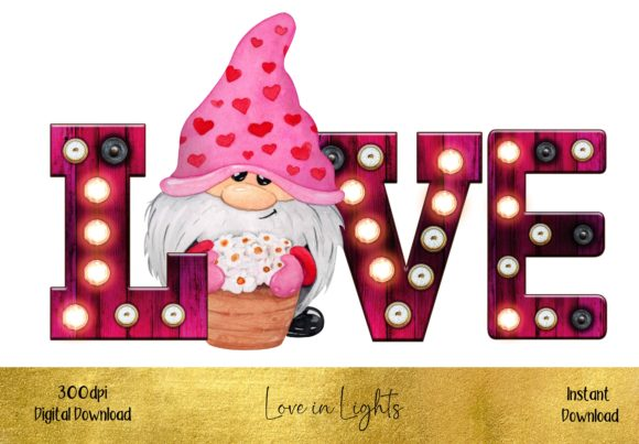 Valentines Love in Lights Design Graphic Illustrations By STBB