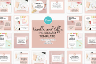 Print on Demand: Vanilla and Coffee Instagram Template Graphic Presentation Templates By SnapyBiz