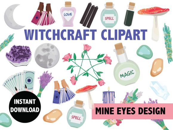 Print on Demand: Witchcraft Shop Illustrations Graphic Illustrations By Mine Eyes Design
