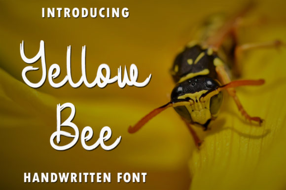 Print on Demand: Yellow Bee Script & Handwritten Font By rangkaiaksara