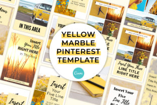 Print on Demand: Yellow Marble Pinterest Canva Template Graphic Presentation Templates By SnapyBiz
