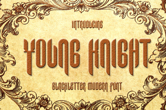Print on Demand: Young Knight Blackletter Font By Eddygoodboy