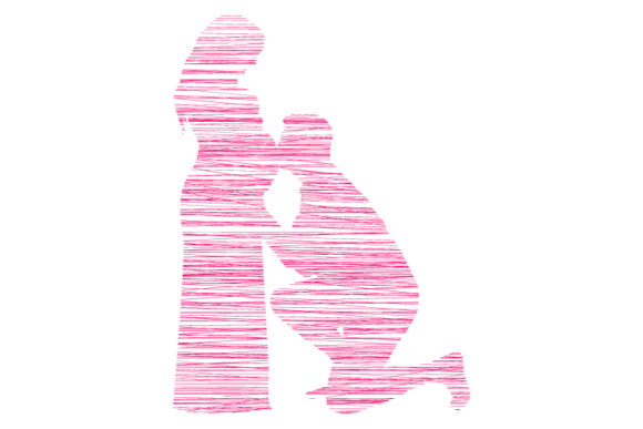 Print on Demand: Couple in Love with Line Design Graphic Illustrations By curutdesign