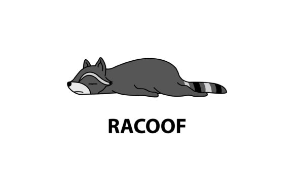 Racoon Mood Graphic Illustrations By luckypursestudio