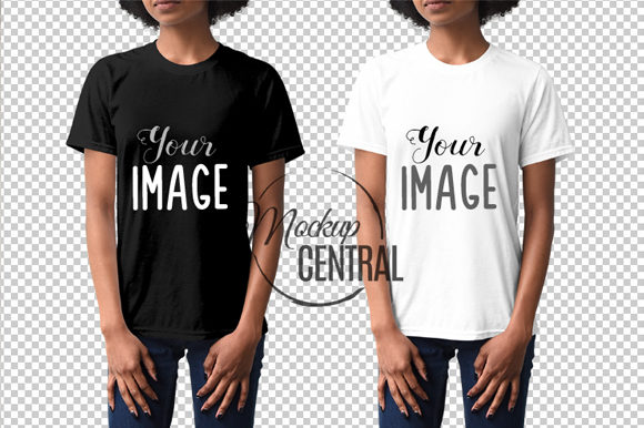 African American Girl T-Shirt Mockup Graphic Product Mockups By Mockup Central