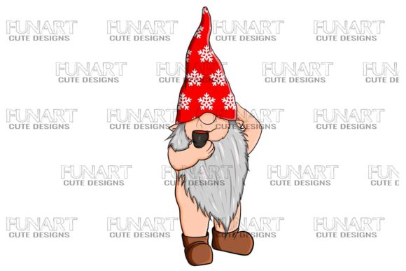 Awesome Gnome 1 / Digital Design PNG Graphic Illustrations By Fundesings