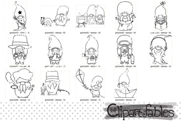Cute GNOME LEISURE DIGITAL STAMPS Graphic Download