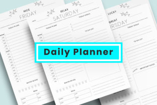 Print on Demand: Daily Planner Sheet Graphic Graphic Templates By AmitDebnath