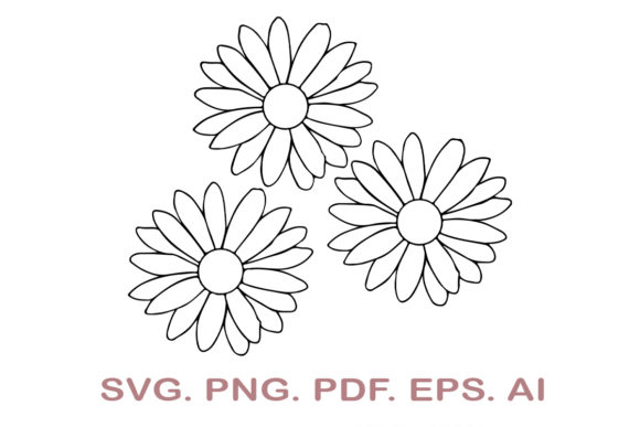 Daisy SVG Graphic Crafts By NarCreativeDesign