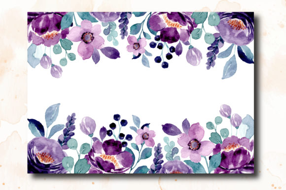 Print on Demand: Digital Clipart Floral Watercolor Part11 Graphic Illustrations By asrulaqroni