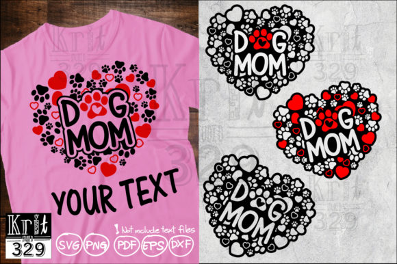 Dog Mom Heart Paws Pattern SVG Graphic Crafts By Krit-Studio329