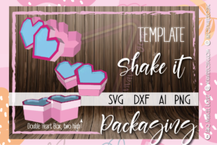 Print on Demand: Double Heart Box Valentines Day Love Graphic 3D SVG By Marcel de Cisneros