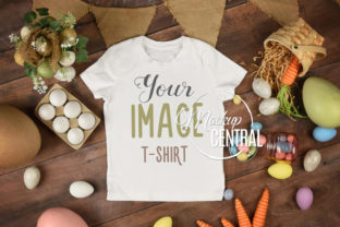Easter Child T-Shirt Flatlay Mockup Graphic Product Mockups By Mockup Central