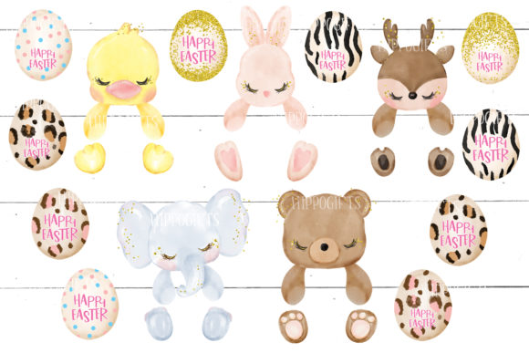 Easter Clipart, Easter Animal Clipart Graphic Download