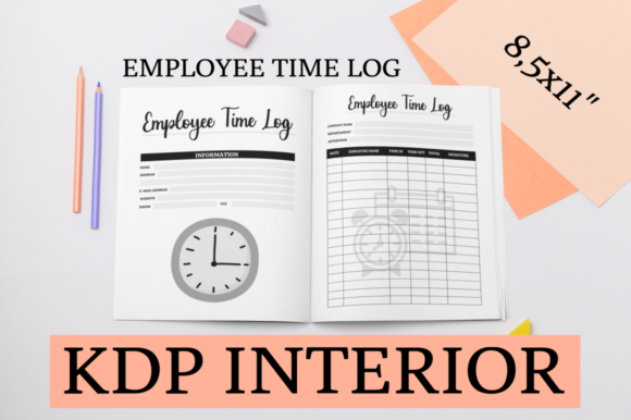 Print on Demand: Employee Time Log   KDP Interior Graphic KDP Interiors By KDP Mastermind