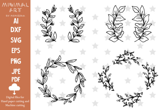 Print on Demand: Flower SVG Files, Flower Cut Clip-art Graphic Illustrations By Momixzaa