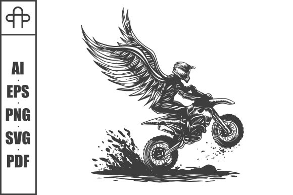 Print on Demand: Motocross Wing Vector Illustration Graphic Illustrations By Andypp