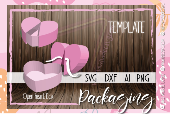 Print on Demand: Open Heart Box Love Graphic 3D SVG By Marcel de Cisneros