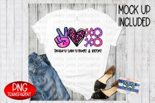 Print on Demand: Peace Love XOXO Valentine Sublimation Graphic Illustrations By Lori Lou Designs