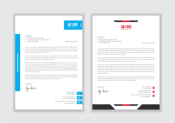 Professional Letterhead Template Graphic Websites By GraphicHut