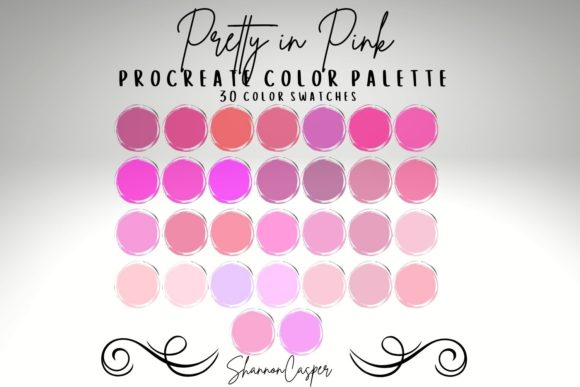 Print on Demand: Shades of Pink Procreate Color Palette Graphic Actions & Presets By Shannon Casper