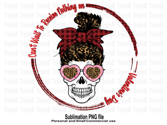 Print on Demand: Skull Funny Nothing on Valentine's Day Gráfico Crafts Por TripleBcraft