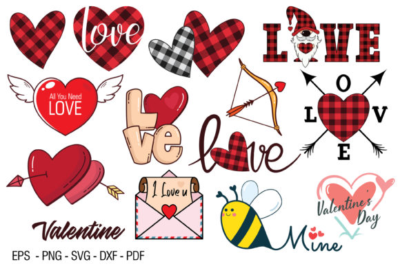 Print on Demand: Valentine Clip Art Graphic Illustrations By FounDream