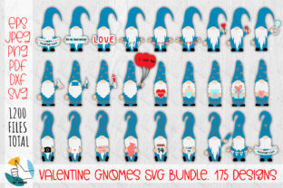 Print on Demand: Valentine Gnomes SVG Bundle. 175 Designs Graphic Crafts By OK-Design