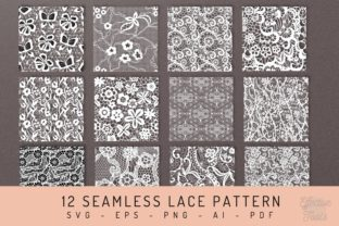 12 Seamless Lace Pattern Svg, Eps, Png, Graphic Patterns By EfficientTools