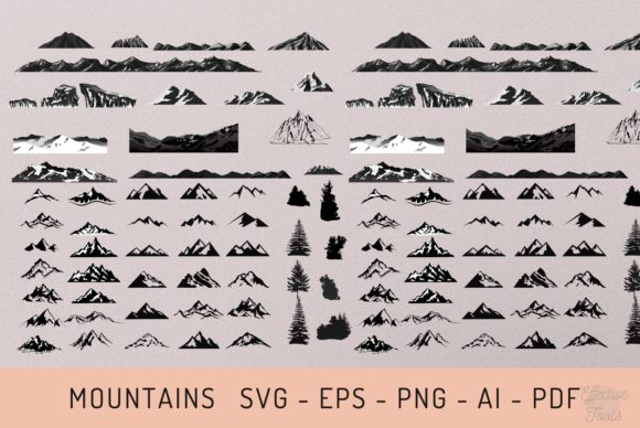 56 Mountain Svg - Eps - Png - Ai - Pdf Graphic Objects By EfficientTools