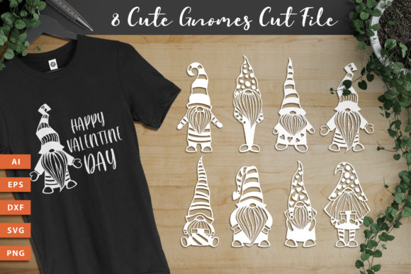 8 Gnomes SVG Cut Files Graphic Crafts By AllmoStudio