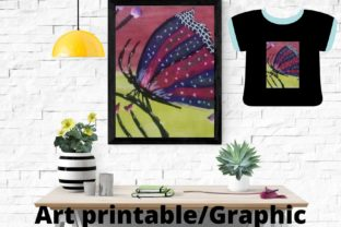 BUTTERFLY ART PRINTABLE/GRAPHIC Graphic Illustrations By Articolory