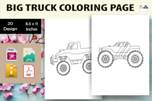 Print on Demand: Big Truck Coloring Page - KDP Graphic Coloring Pages & Books Kids By Sei Ripan