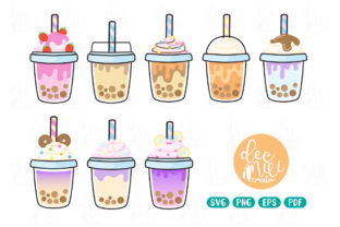 Print on Demand: Bubble Tea Collection SVG Cut File Graphic Illustrations By decnui.creator