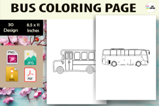Print on Demand: Bus Coloring Page 2 - KDP Graphic Coloring Pages & Books Kids By Sei Ripan